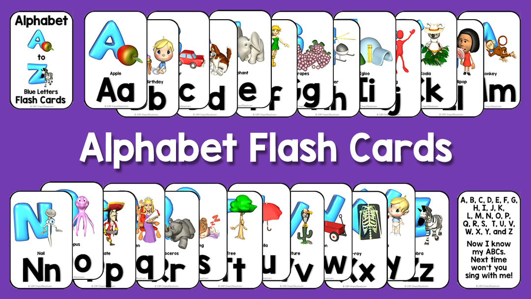 Alphabet Flash Card Set - Freebie